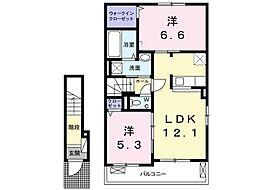 ルーチェABC[2階]の間取り