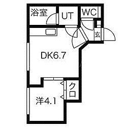 ブランノワールMuse'e(ミュゼ)[4階]の間取り
