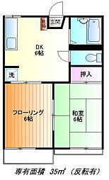 みどりハウス[2f号室]の間取り
