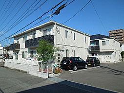 愛媛県松山市枝松1丁目の賃貸アパートの外観