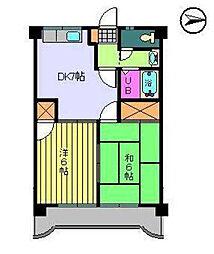 第82杉フラット[606 号室号室]の間取り