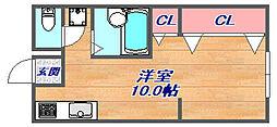 森北アパート[102号室]の間取り