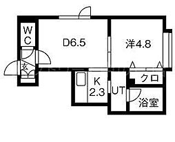 コーポガリレオ 3階1DKの間取り