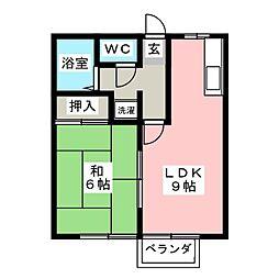 コスモハイツ美鈴[1階]の間取り