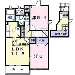 ガーデンハウスTADA A[0201号室]の間取り