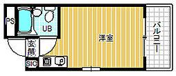 マンションペガサス[3階]の間取り