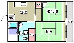 第一千寿ビル[5階]の間取り
