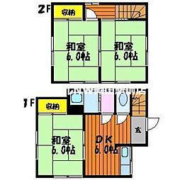 [一戸建] 岡山県岡山市北区延友 の賃貸【/】の間取り