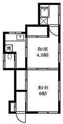 東京都世田谷区中町2丁目の賃貸アパートの間取り