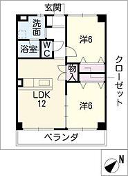 アンシャンテII[1階]の間取り