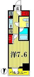 東武亀戸線 亀戸水神駅 徒歩10分の賃貸マンション 11階1Kの間取り