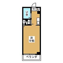 ウイング元八事[2階]の間取り
