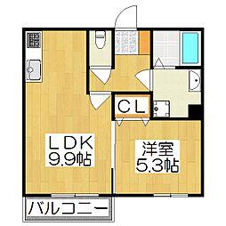 メゾン ルノアール 3階1LDKの間取り