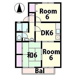 アグリンビレッジ A棟[2階]の間取り