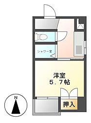 山二ビル[4階]の間取り