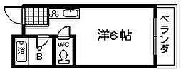 ロイヤルクレイン樽井[204号室]の間取り