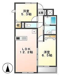 CASA ABITARE[2階]の間取り