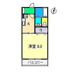 kanada B棟[2階]の間取り