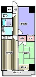 愛知県瀬戸市新郷町の賃貸マンションの間取り