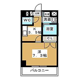 GRAND COURT MG[4階]の間取り