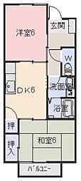 サープラス 塚本 B[B103号室]の間取り