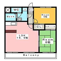 ボヌールM[3階]の間取り