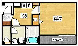 ハーモニーライフ須山[2階]の間取り