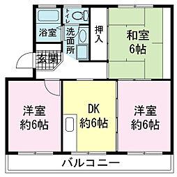 土屋ハウス[00402号室]の間取り