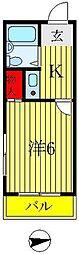 プロシード稔台[1階]の間取り