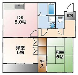 シャルム甲子園3番館[2階]の間取り