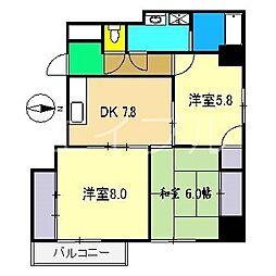 N&A APARTMENT[3階]の間取り