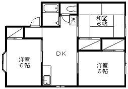 新潟県新潟市西区寺尾西2丁目の賃貸アパートの間取り