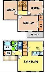 [一戸建] 徳島県徳島市新南福島1丁目 の賃貸【/】の間取り