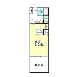 東京都葛飾区東堀切1丁目の賃貸アパートの間取り
