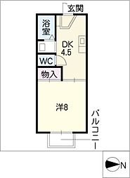 フレマリール小木田[2階]の間取り