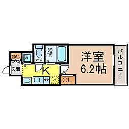 愛知県名古屋市中区千代田2の賃貸マンションの間取り