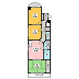 アクシア香呑[6階]の間取り