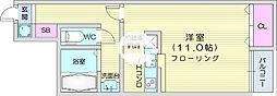 アスコット栄 1階ワンルームの間取り