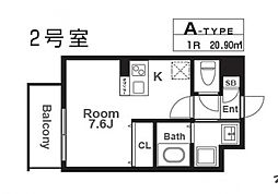 レヴィータ京橋[102号室号室]の間取り