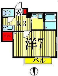 東京都墨田区業平4丁目の賃貸マンションの間取り