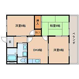 静岡県静岡市駿河区高松の賃貸マンションの間取り