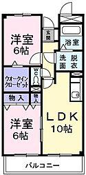 東京都青梅市千ヶ瀬町6丁目の賃貸マンションの間取り