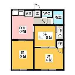 コーポ鈴木[1階]の間取り