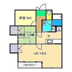 メイプル高須[2階]の間取り
