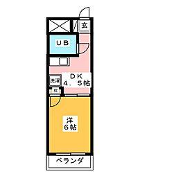 キャッスルシティ城崎[3階]の間取り