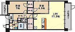 北大阪急行電鉄 桃山台駅 徒歩19分の賃貸マンション 1階1SLDKの間取り