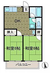 シティハイムたきの台[2階]の間取り