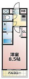 アーバンフラッツ新大阪II[7階]の間取り
