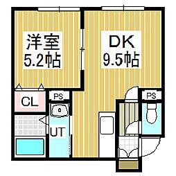 ハイツエタニティ[1階]の間取り