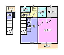 エルマール湘南[2階]の間取り